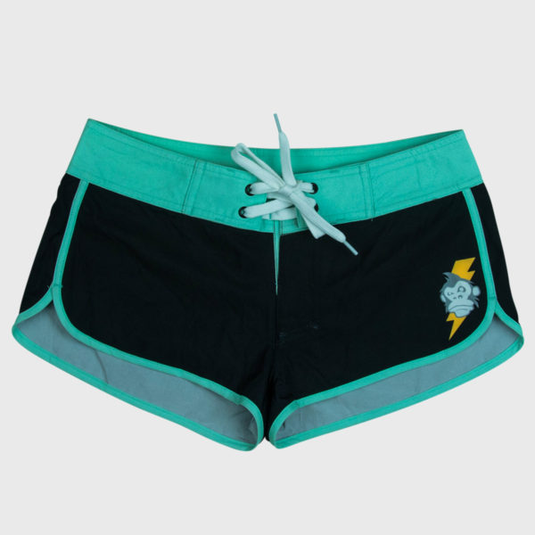 Thundermonkey_ladies_boardshorts_green_front